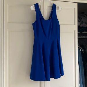 Lulu's Blue Skater Dress